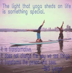 SUP Yoga BKS Iyengar quote